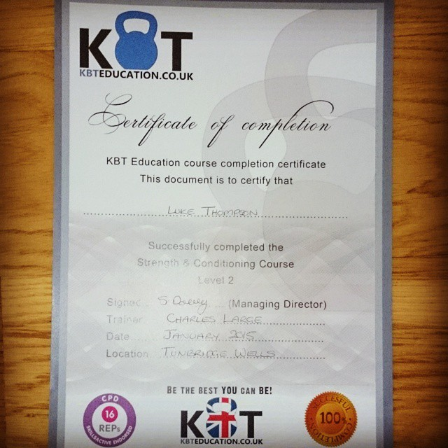 Level 2 Strength And Conditioning Certified Actuate